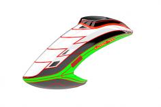 Mikado Haube LOGO 700, weiß/schwarz/neon-grün
