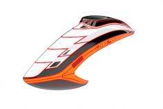 Mikado Haube LOGO 700, weiß/schwarz/neon-orange