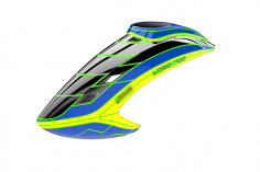Mikado Haube LOGO 700, schwarz/blau/neon-gelb