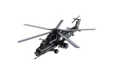 CaDa Klemmbausteine – Hubschrauber WZ-10 - Standmodell mit Antriebsset für Propellerrotation bestehend aus 989 Teilen