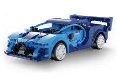 CaDa Klemmbausteine - Blue Race Car - RC Set RTR mit Fernsteuerung oder via APP und Antriebsset bestehend aus 325 Teilen
