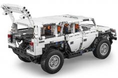 CaDa Klemmbausteine - Warrior H2 - RC Set RTR mit Fernsteuerung oder via APP und Antriebsset bestehend aus 575 Teilen