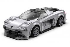 CaDa Klemmbausteine - Lotus Car - RC Set RTR mit Fernsteuerung oder via APP und Antriebsset bestehend aus 308 Teilen