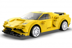CaDa Klemmbausteine – Race Car - RC Set RTR mit Fernsteuerung oder via APP und Antriebsset bestehend aus 289 Teilen