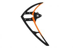 Mikado Carbon-Seitenleitwerk mit Kugellager, orange, LOGO 600