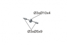 Mikado Riemenandruckrolle Heckrotor Ø20mm, LOGO 480/500 SE