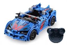 CaDa Klemmbausteine – Crash Racing Car - RC Set RTR mit Fernsteuerung und Antriebsset - 585 Teile