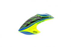 Mikado Haube LOGO 480, schwarz/blau/gelb