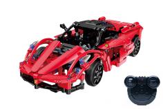 CaDa Klemmbausteine - Red Storm Car - RC Set RTR mit Fernsteuerung und Antriebsset bestehend aus 380 Teilen