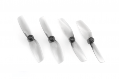 HQ Prop Micro Whoop Propeller 40mmX2 Poly Carbonate für 1,5mm Welle je 2xCW+ 2xCCW in grau