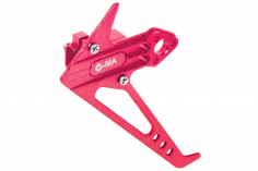L-MA Precision Tuning Seitenleitwerk mit Heckmotorhalter aus Aluminium in pink für OMPHOBBY M1 Heli