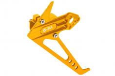 L-MA Precision Tuning Seitenleitwerk mit Heckmotorhalter aus Aluminium in gelb für OMPHOBBY M1 Heli