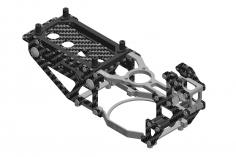 L-MA Precision Tuning Hauptrahmen aus Aluminium und Carbon in silber für OMPHOBBY M1 Heli