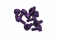 Inbusschrauben aus Aluminium violett eloxiert M3x10 10 Stück