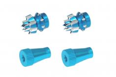 Steuerknüppelendstück / Gimbal Stick End / Typ C in hell blau mit M3 Gewinde 2 Stück