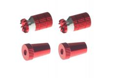 Steuerknüppelendstück / Gimbal Stick End / Typ A in rot mit M3 Gewinde 2 Stück