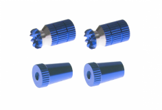 Steuerknüppelendstück / Gimbal Stick End / Typ A in dunkel blau mit M3 Gewinde 2 Stück