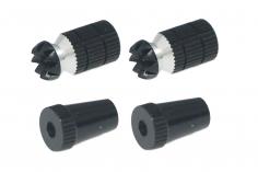 Steuerknüppelendstück / Gimbal Stick End / Typ A in schwarz mit M3 Gewinde 2 Stück