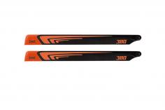 1st Hauptrotorblätter aus CFK 380mm in neon Orange