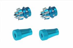 Steuerknüppelendstück / Gimbal Stick End / Typ C in hell blau mit M4 Gewinde 2 Stück