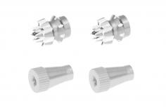Steuerknüppelendstück / Gimbal Stick End / Typ C in silber mit M4 Gewinde 2 Stück