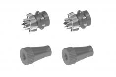 Steuerknüppelendstück / Gimbal Stick End / Typ C in titan mit M4 Gewinde 2 Stück