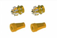 Steuerknüppelendstück / Gimbal Stick End / Typ C in gold mit M4 Gewinde 2 Stück