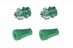 Steuerknüppelendstück / Gimbal Stick End / Typ C in grün mit M3 Gewinde 2 Stück 2 Stück