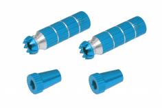 Steuerknüppelendstück / Gimbal Stick End / Typ B in hell blau mit M4 Gewinde 2 Stück