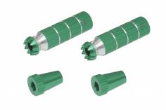 Steuerknüppelendstück / Gimbal Stick End / Typ B in grün mit M4 Gewinde 2 Stück