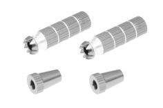 Steuerknüppelendstück / Gimbal Stick End / Typ B in silber mit M4 Gewinde 2 Stück