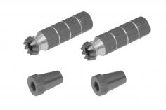 Steuerknüppelendstück / Gimbal Stick End / Typ B in titan mit M4 Gewinde 2 Stück