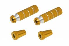 Steuerknüppelendstück / Gimbal Stick End / Typ B in gold mit M4 Gewinde 2 Stück