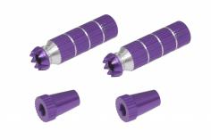 Steuerknüppelendstück / Gimbal Stick End / Typ B in violet mit M3 Gewinde 2 Stück