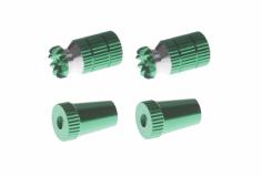 Steuerknüppelendstück / Gimbal Stick End / Typ A in grün mit M3 Gewinde 2 Stück 2 Stück