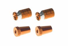 Steuerknüppelendstück / Gimbal Stick End / Typ A in orange mit M3 Gewinde 2 Stück