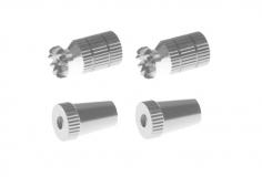 Steuerknüppelendstück / Gimbal Stick End / Typ A in silber mit M3 Gewinde 2 Stück