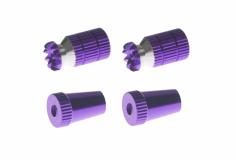Steuerknüppelendstück / Gimbal Stick End / Typ A in violet mit M3 Gewinde 2 Stück