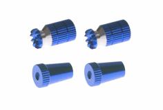 Steuerknüppelendstück / Gimbal Stick End / Typ A in dunkel blau mit M4 Gewinde 2 Stück