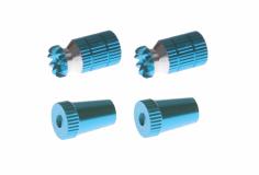 Steuerknüppelendstück / Gimbal Stick End / Typ A in hell blau mit M4 Gewinde 2 Stück