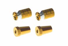 Steuerknüppelendstück / Gimbal Stick End / Typ A in gold mit M4 Gewinde 2 Stück