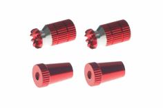 Steuerknüppelendstück / Gimbal Stick End / Typ A in rot mit M4 Gewinde 2 Stück