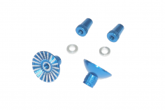 Steuerknüppelendstück / Gimbal Stick End / Typ E in dunkel blau mit M4 Gewinde 2 Stück
