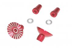 Steuerknüppelendstück / Gimbal Stick End / Typ E in rot mit M4 Gewinde 2 Stück 2 Stück