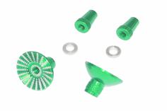 Steuerknüppelendstück / Gimbal Stick End / Typ E in grün mit M3 Gewinde 2 Stück 2 Stück