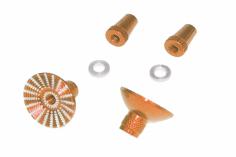 Steuerknüppelendstück / Gimbal Stick End / Typ E in orange mit M3 Gewinde 2 Stück