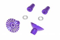 Steuerknüppelendstück / Gimbal Stick End / Typ E in violet mit M3 Gewinde 2 Stück