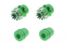 Steuerknüppelendstück / Gimbal Stick End / Typ S in grün mit M4 Gewinde 2 Stück 2 Stück