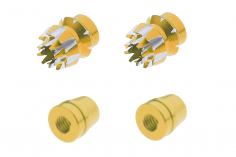 Steuerknüppelendstück / Gimbal Stick End / Typ S in gold mit M4 Gewinde 2 Stück
