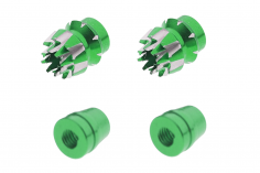 Steuerknüppelendstück / Gimbal Stick End / Typ S in grün mit M3 Gewinde 2 Stück 2 Stück